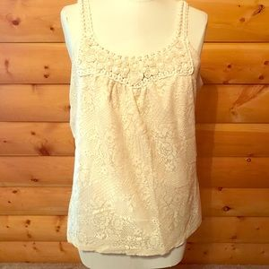 Dressbarn lace and beaded cami